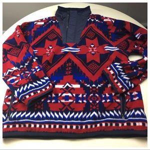 POLO Aztec Tribal Western Polar Fleece XXL Hoodie
